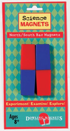Dowling Magnets North/South Bar Magnets (3.13 inches long x 1 inch wide x .38 inch thick), Set of 2