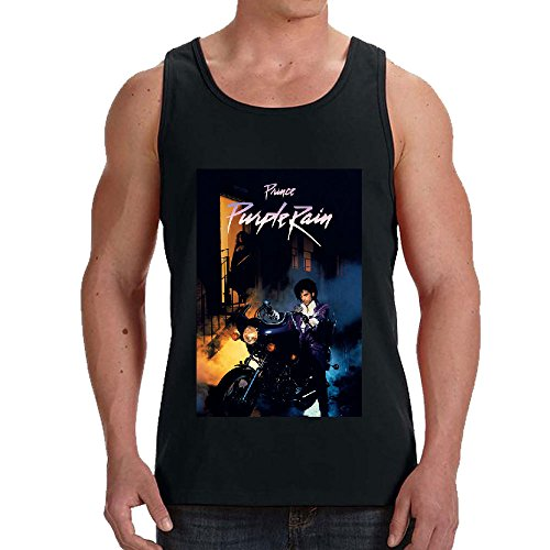 Prince Purple Rain R&B Men Printed Arts Tank Tops Black (Prince Mr Nelson Feat Lianne La Havas)