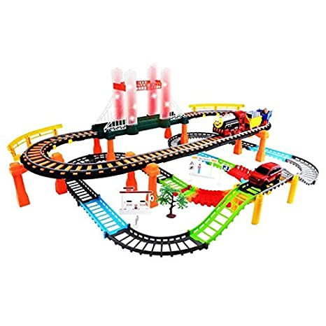 Amazon Com Kofun Double Racing Car Track Kids Toy Game Rail Mold