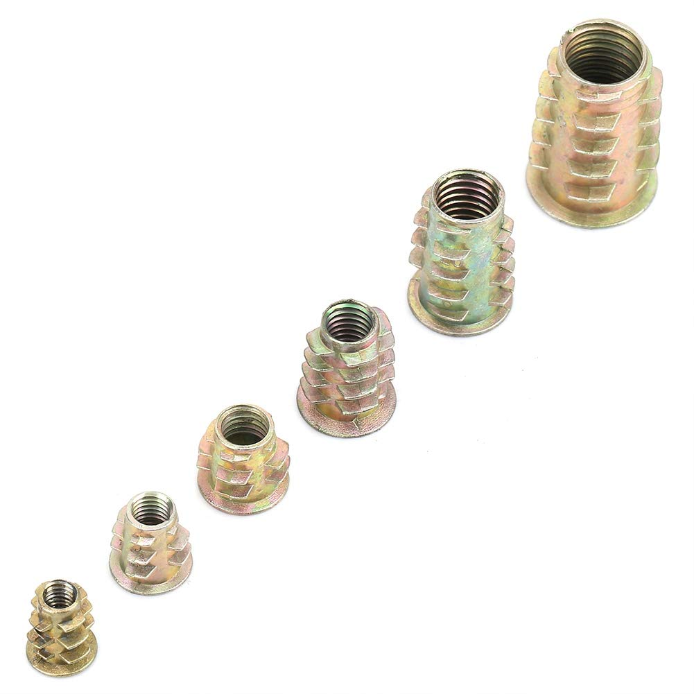 50 st/ücke Sechskant Gewindeeinsatz Zinklegierung M/öbel Sechskantantrieb Eins/ätze mit Box