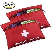 Oumers First Aid Kit Medical Bag Car Home Survival, 2Bags