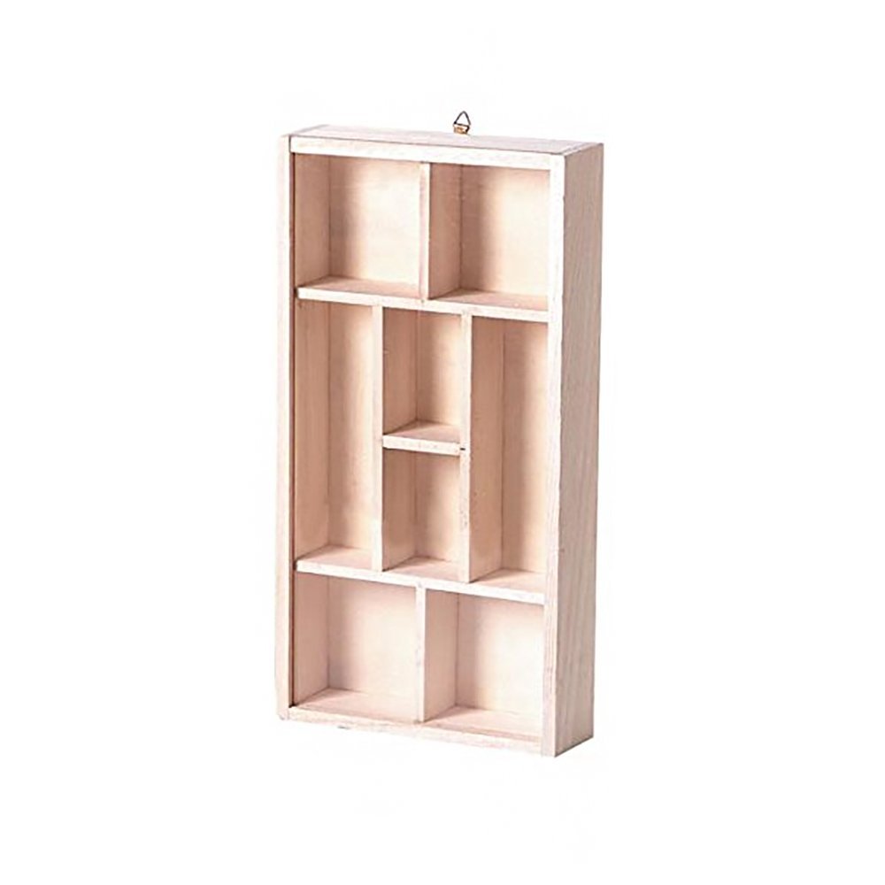Darice 9171-24 Natural Unfinished Wood Craft Display Memory Box