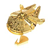 NOVADEAL 3D Assembly Star Wars Series Metallic Model Kits DIY Toy Puzzles For Kids Adults - Millennium Falcon Golden