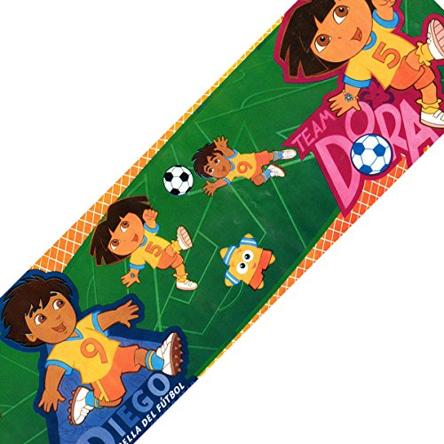Nick Jr. Dora Diego Soccer Wallpaper Accent Wall Border Roll