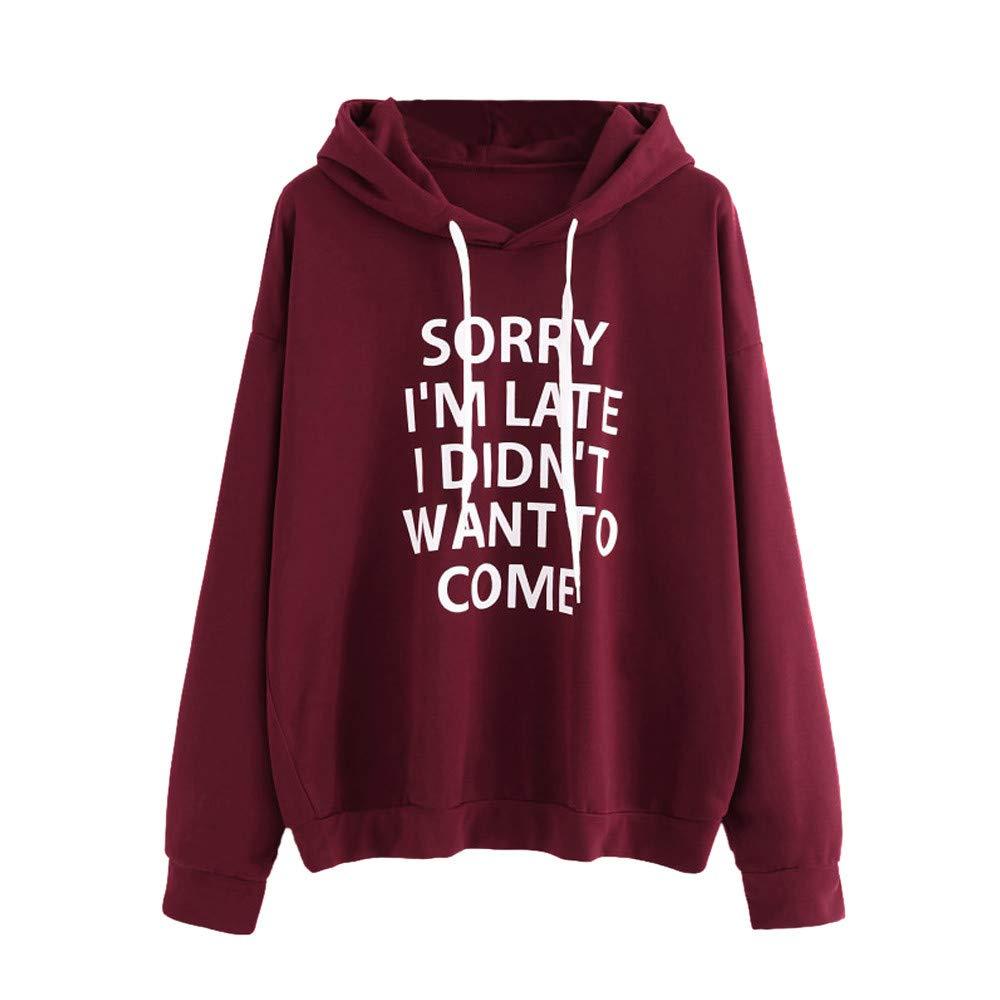 GiveKoiu-Clothings Pullover Women Pockets, Women O-Neck Hoodie Jumper Long Sleeve Letter Print Sweatshirt Pullover Tops 2066-sweatshirts hoodies