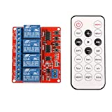 MagiDeal 12V 4CH Channel IR Infrared Wireless Remote Control Learning Relay Module 8M