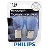 Philips 1156 CrystalVision ultra Miniature Bulb, 2 Pack