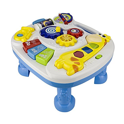 AIPA Musicl Learning Table for Baby Early Educational Development Activity Centers with Songs-Numbering-Greetings-Colours & Animal Sound -Recognition Encourage Exploration In Children