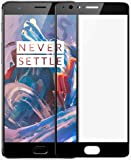 MARKET AFFAIRS Full Screen Coverage Tempered Glass for OnePlus 3/Oneplus 3T (Black)