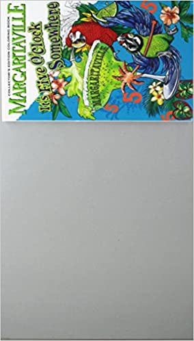 Amazon Margaritaville 5 OClock Somewhere Adult Coloring Book Collectors Edition Travel With Bonus Soothing Sounds And Views Of The Ocean
