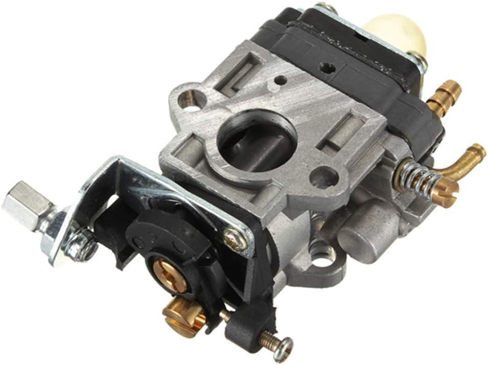 kongnijiwa Reemplazo para Desbrozadora 43cc Moto Cortasetos para 50CC Universal carburador de 15 mm de Carb