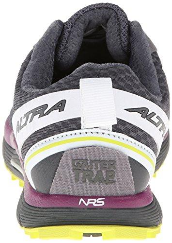 Altra Womens Lone Peak 2 Chaussure De Trail Running Gris Foncé / Citron Vert / Violet