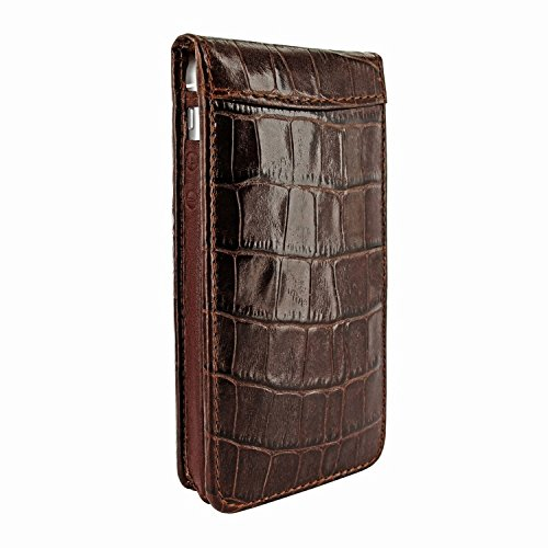 Piel Frama 595 Brown Crocodile Magnetic Leather Case for Apple iPhone 5 / 5S / SE by Piel Frama (Image #1)