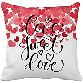 Delicieux Love Sweet Love Text As Valentineu0027s Day Home Decor Throw Pillow Cover  Cotton Polyester Cusion Cover