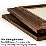Craig Frames 76004 8 by 10-Inch Picture Frame 2-Piece Set, Smooth Finish, 2-Inch Wide, Rustic Brown