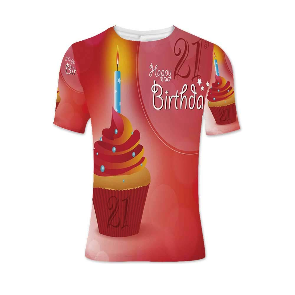 21st Birthday Decorations Fashionable T Shirt,for Men,L