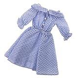 MonkeyJack NEW 1/4 BJD Clothes Country Style Blue Plaid Dress for BJD Dollfie SOOM Doll