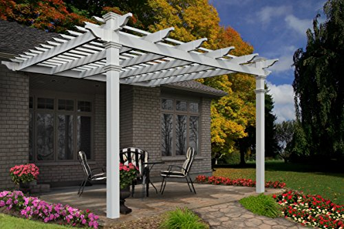 Freemont 12' x 12' Attached Vinyl Pergola (Arbor Kits Wood)