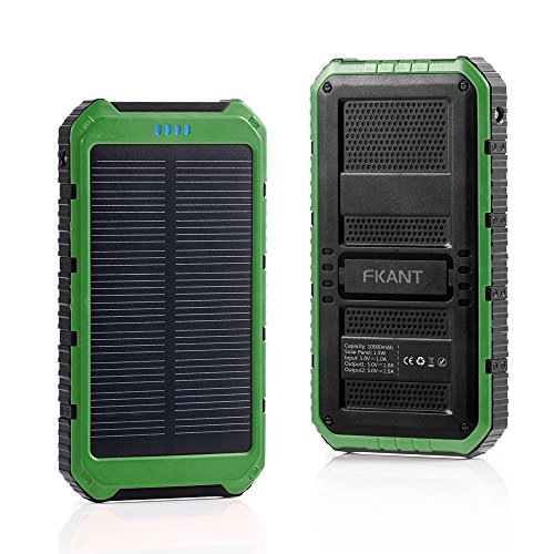 Fkant 10000mah Portable Solar Phone Charger External
