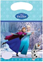 Disney Frozen Party Bags, Pack of 6 in Light Blue