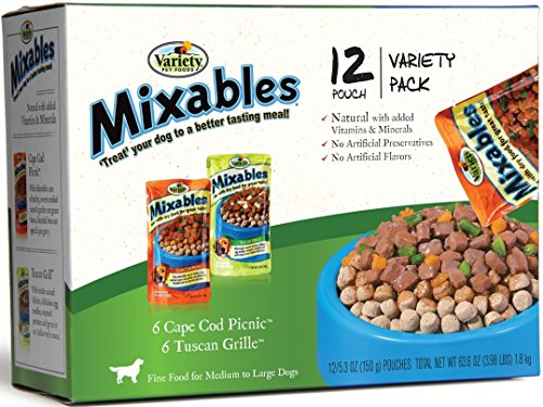 Grille Designed (Variety 00079 12/5.3-Ounce Mixables Poultry Lovers Natural Dog Food, Includes 6-Cape Cod Picnic and 6-Tuscan Grille)
