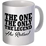 Best funny gift - 11OZ Coffee Mug - The one, the only one, the legend had retired - Perfect for retirement party, men, women, present for him, her, dad, mom, wife, husband or friend.