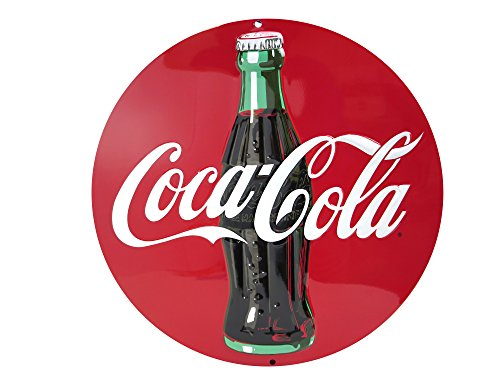 Coke Coca Cola Round Retro Vintage Die Cut Embossed Tin ()