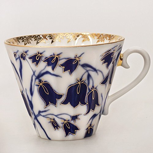 Bluebells Teacup W Saucer 8 Fl Oz 22k Gold By Imperial