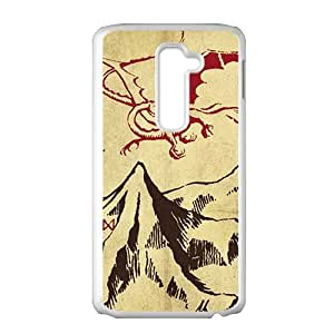 Unique mountain and red dinosaur Cell Phone Case for LG G2