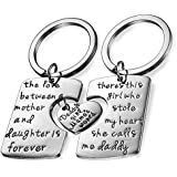Gydoxy(TM) 3PCs Dad Dughter Mommy Stainless Steel Lovers Heart Family Keychain Gifts Keyring Charm Women