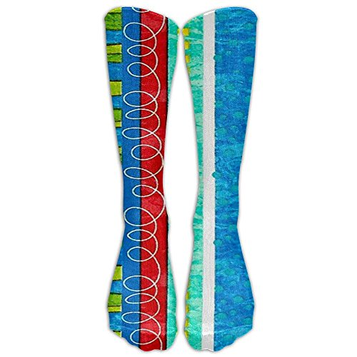 Bug's Life Funky Stripe Knee High Graduated Compression Socks For Women And Men - Best Medical, Nursing, Travel & Flight Socks - Running & Fitness