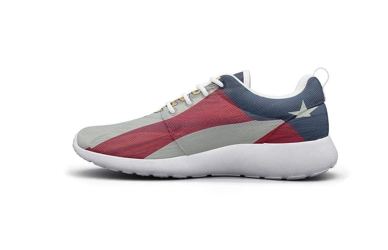 SREKAH White Womens Walking Shoes USMC Marine Corps Flag Print Breathable Comfortable Womens Sneakers