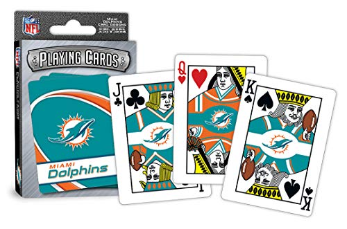 MasterPieces NFL Miami Dolphins Playing Cards