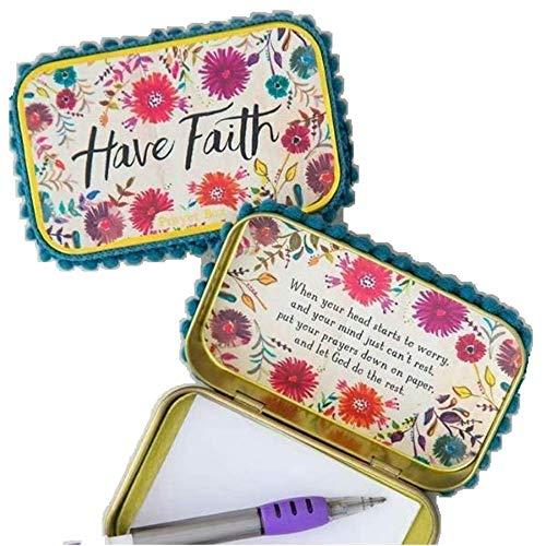 Natural Life Have Faith Prayer Box   Gratitude Box with Pencil and ()