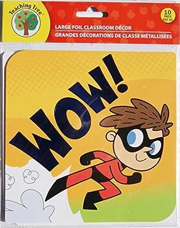 Amazon Com Wow Running Dash Superhero Classroom Decor Foil