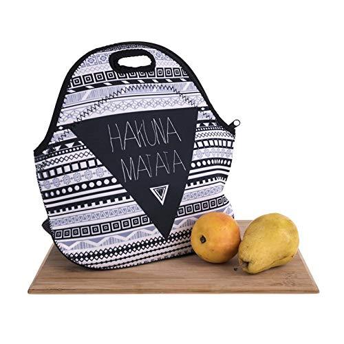 iTemer 1 pieza moda impreso almuerzo decorativo bolsa de aislamiento bolsa de almacenamiento de alimentos bolsa de picnic al aire libre Color de la raya