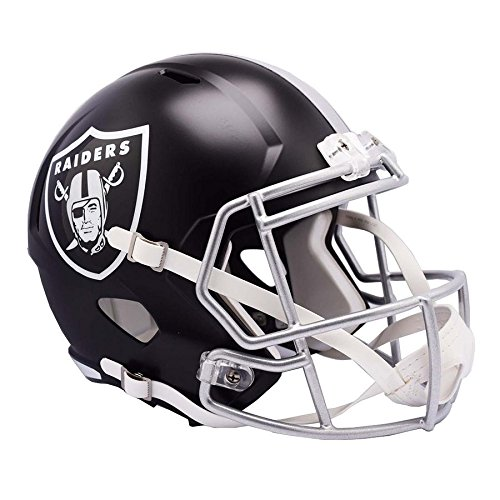 Oakland Raiders BLAZE Officially Licensed Speed Full Size Replica Football Helmet by Riddell