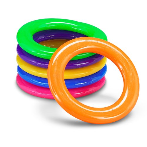 Plastic Cane Rack Rings Party Supplies (4 Dozen), Assorted Colors by Fun Express