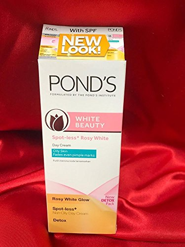 Beauty Detox Spot-Less White Cream (40g) with Vitamin B3,B6,E & C-UV protection (Ponds White Beauty Detox)