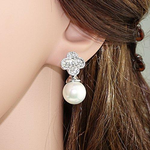 """Ehvan® mesdames Senhora Paras série perle beaucoup etoiles latin millésime Royal & classique boucle d'oreille goutte 3/4 """"Argent"""