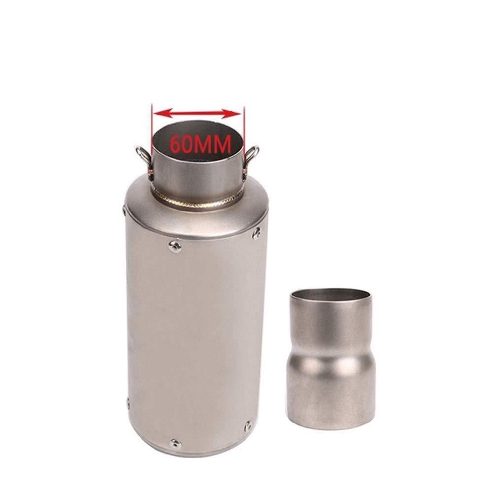 修正アクセサリーオートバイエキゾーストパイプマフラーSCカーボンファイバー互換ヤマハR6 / R3 / R1カワサキER6N交換用 (Color : Titanium)  Titanium B07S3VMCY2