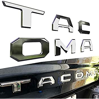 Complete Appearance Toyota Tacoma Tailgate Letter Insert Inlay Chrome and Satin Carbon 2016-2019