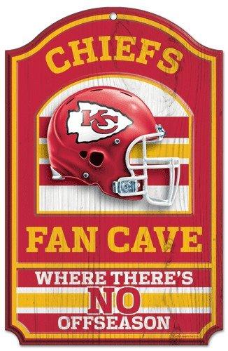 NFL Kansas City Chiefs 05490010 Wood Sign, 11