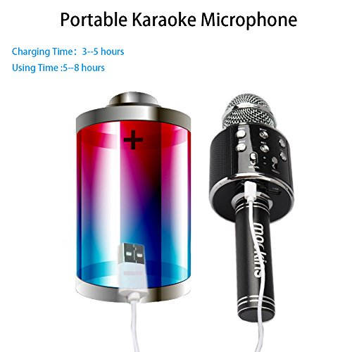 mockins-wireless-microphone-premium-portable-handheld-bluetooth-karaoke-microphone-compatible-with-android-ios-iphone-apple-black-