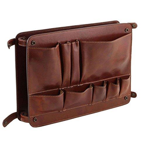 TUSCANY LEATHER - Cartera de mano de Piel para mujer marrón marrón Taille Unique