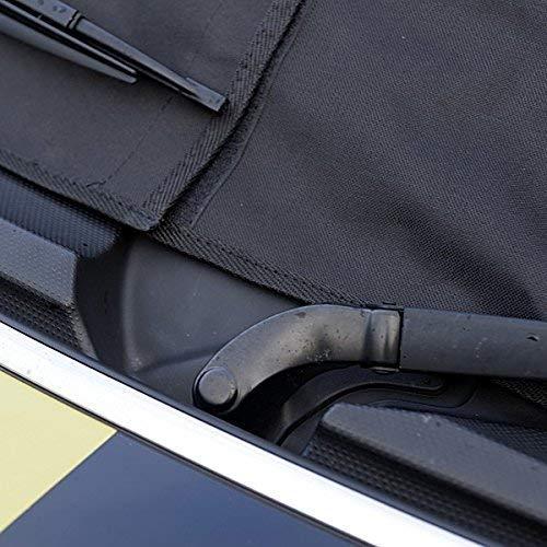 confezionata su misura UK Custom Covers RP115 Mezza copertura morbida per tettuccio dauto colore nero