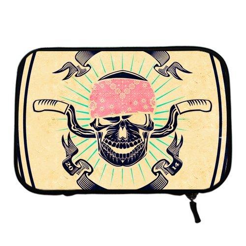 Dont Forget Skull Biker Rider Sleeve for Nook Tablet(Two Sides)