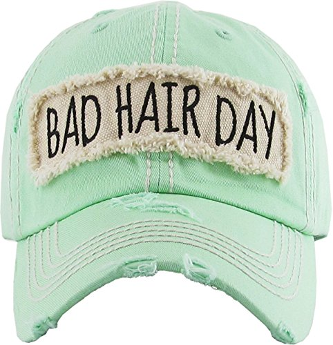 Funky Junque H-212-BHD62 Bad Hair Day Baseball Cap - - Baseball Cap Foam