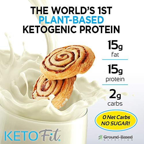 Ground-Based Nutrition Keto Protein - Keto Fit - Plant Based Organic Ketogenic Protein with MCT Oil | Burn Fat, Increase Ketones, Boost Metabolism | Vegan - No Sugar
