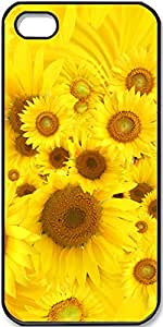 iPhone 4/4s Case,Sunflowers Case for Black iPhone 4 4s